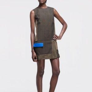 Rag & Bone Newton Brown Patchwork Mini Dress 0